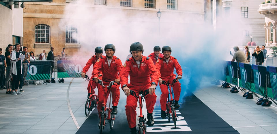 The one with Brompton, Radio 1 and the Red Arrows