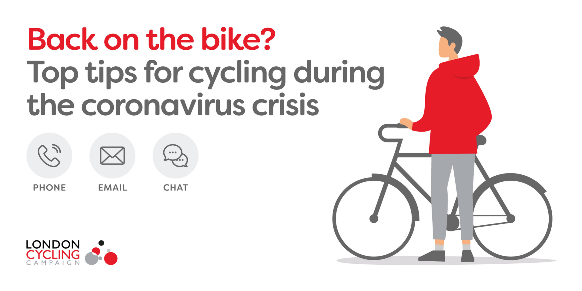 London Cycling Campaign's new live chat service gives cycling advice for essential journeys during COVID-19