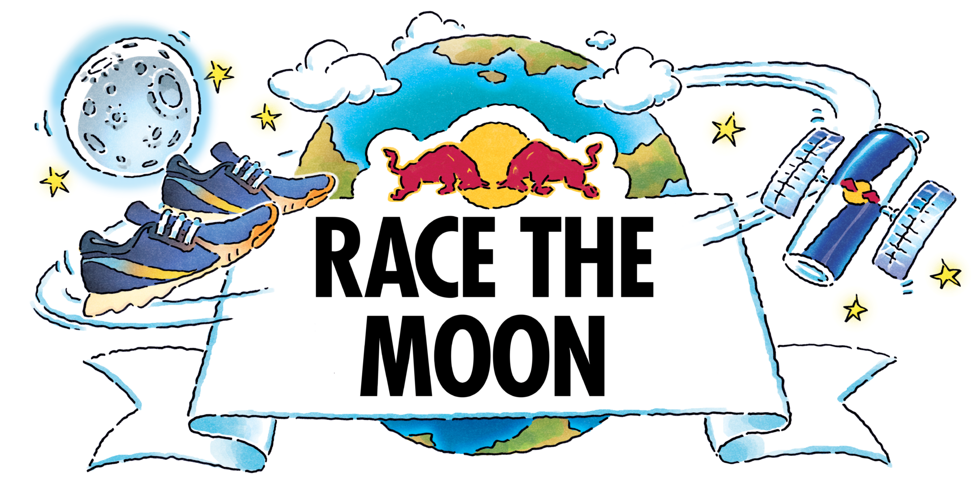 The Challenge That's Out Of This World: Red Bull encourages UK runners to Race the Moon 1.5million miles around the Earth